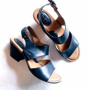 B.O.C. | Emmaline black stacked heel sandal